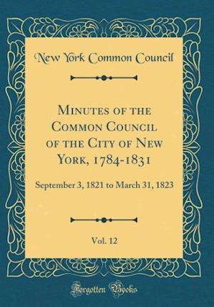 Bog, hardback Minutes of the Common Council of the City of New York, 1784-1831, Vol. 12 af New York Common Council