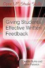 Giving Students Effective Written Feedback (UK Higher Education Oup Humanities Social Sciences Study Skills)