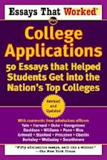 Essays That Worked for College Applications