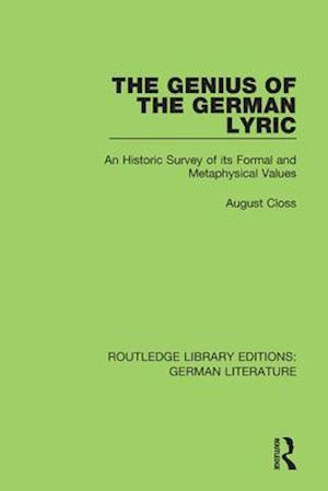 The Genius of the German Lyric