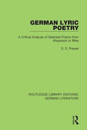 German Lyric Poetry