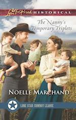 The Nanny's Temporary Triplets (Love Inspired Historical)