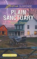 Plain Sanctuary (Love Inspired Suspense (Large Print))
