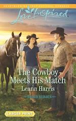 The Cowboy Meets His Match (Love Inspired (Large Print))
