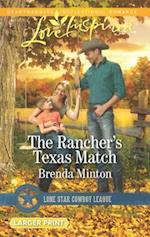 The Rancher's Texas Match (Love Inspired (Large Print), nr. 1)