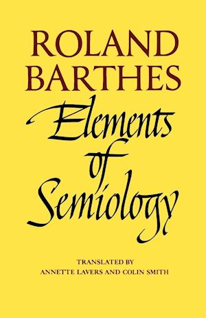 Bog paperback Elements of Semiology af Roland Barthes