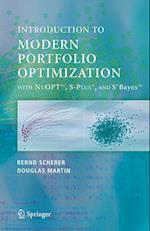 Modern Portfolio Optimization with NuOPT', S-PLUS(R), and S+Bayes' af R Douglas Martin, Bernd Scherer