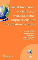 Social Inclusion, Societal and Organizational Implications for Information Systems af Tom Butler, Eileen Trauth, Janice I DeGross