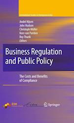 Business Regulation and Public Policy af R Thurik, Andre Nijsen, Kees van Paridon