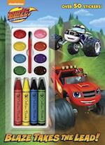 Blaze Takes the Lead! (Blaze and the Monster Machines) [With Four Chunky Crayons] (Color and Paint Plus Stickers)