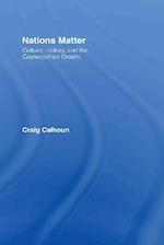 Nations Matter: Culture, History, and the Cosmopolitan Dream