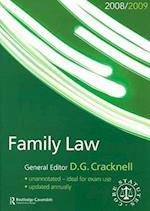 Family Law Statutes 2008-2009 (Core Statutes)