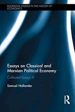 Essays on Classical and Marxian Political Economy (Routledge Studies in the History of Economics)