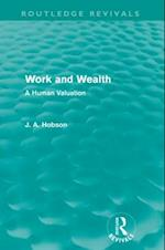 Work and Wealth af J A Hobson