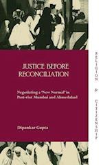 Justice before Reconciliation (Religion and Citizenship)
