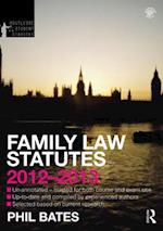 Family Law Statutes 2012-2013 (Routledge Student Statutes)