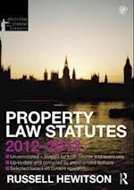 Property Law Statutes 2012-2013 (Routledge Student Statutes)