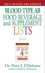 Blood Type AB Food, Beverage, And Supplemental Lists