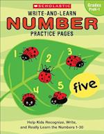 Write-and-learn Number Practice Pages, Grades Prek-1