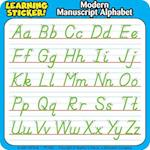 Modern Manuscript Alphabet Learning Stickers