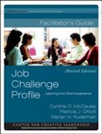 Job Challenge Profile Fac Guide Set (J-B Ccl (Center for Creative Leadership))