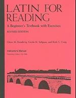 Latin for Reading Instructor's Manual