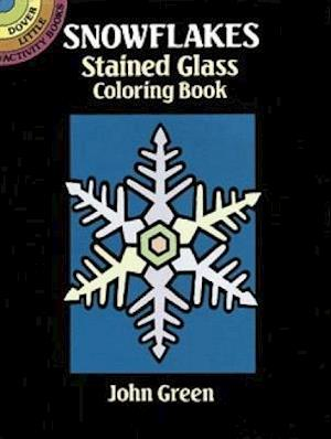 Snowflakes Stained Glass Coloring Book