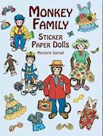 Monkey Family Sticker Paper Dolls af Sarnat, Marjorie Sarnat, Paper Dolls