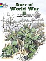 Story of World War 2 (Dover History Coloring Book)