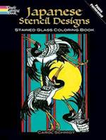 Japanese Stencil Designs Stained Glass Coloring Book af Carol Schmidt, Coloring Books
