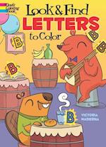 Look & Find Letters to Color (Dover Coloring Books)