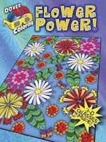 3-D Coloring Book--Flower Power! (Dover 3-D Coloring Books)