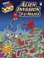 3-D Mazes--Alien Invasion [With 3-D Glasses] (Dover 3-d Mazes)