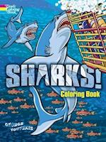 Sharks! Coloring Book af George Toufexis