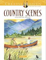 Country Scenes Coloring Book (Creative Haven Coloring Books)