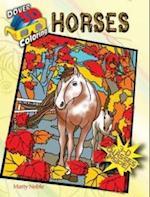 3-D Coloring Book--Horses (Dover 3D Coloring Book)