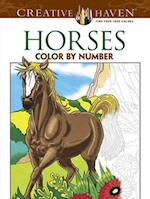 Horses Color by Number Coloring Book (Creative Haven Coloring Books)