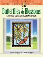 Butterflies & Blossoms Stained Glass Coloring Book af Carol Schmidt