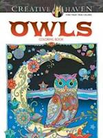 Creative Haven Owls Coloring Book (Creative Haven Coloring Books)