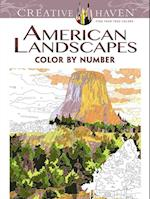 Creative Haven American Landscapes Color by Number Coloring Book (Creative Haven Coloring Books)