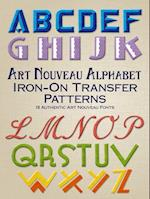 Art Nouveau Alphabet Iron-on Transfer Patterns