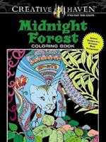 Creative Haven Midnight Forest Coloring Book af Lindsey Boylan