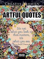Creative Haven Artful Quotes Coloring Book