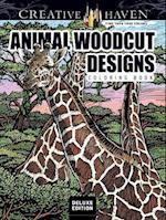 Creative Haven Animal Woodcut Designs Coloring Book
