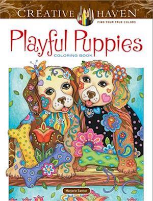 Bog, paperback Creative Haven Playful Puppies Coloring Book (Working Title) af Marjorie Sarnat