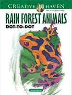 Creative Haven Rain Forest Animals Dot-To-Dot (Adult Coloring)
