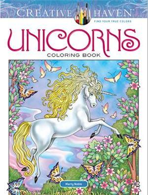 Bog, paperback Creative Haven Unicorns Coloring Book af Marty Noble