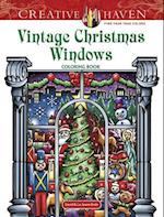 Creative Haven Vintage Christmas Windows Coloring Book