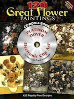120 Great Flower Paintings (Dover Electronic Clip Art)