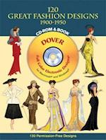 120 Great Fashion Designs, 1900-1950, CD-ROM and Book [With CDROM] (Dover Pictorial Archives)
